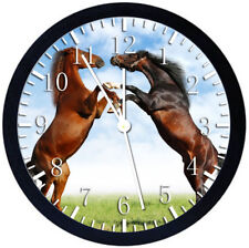 Beautiful Horse Black Frame Wall Clock Nice For Decor or Gifts Z120