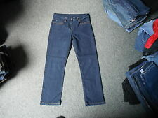 "Papaya Cropped Jeans Size 12 Leg 28"" Faded Dark Blue Ladies Jeans"
