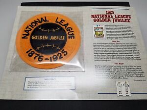 1925 National League Golden Jubilee Patch Cooperstown Collection New 1991