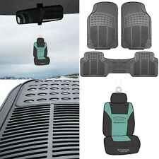 3pc Universal Floor Mats For Auto Car Suv All Weather Gray Set Wfree Freshener Fits 2012 Toyota Corolla