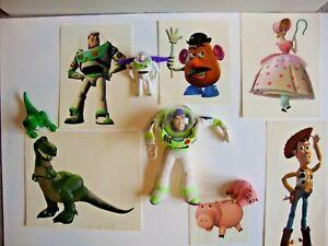 DISNEY Toy Story Buzz Light Year,REX Dinosaur, HAMM Pig,Burger King McDonald LOT
