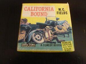 California Bound WC Fields Super 8 Movie Film B/W Castle Films