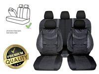 Schwarz Sitzbezüge Komplettsatz Schonbezüge Kunstleder + Polyester Premium für