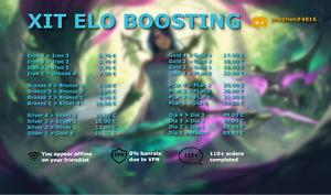 XIT🚀   EUW   League of Legends Account Boost   LoL Eloboost   Elo Boosting
