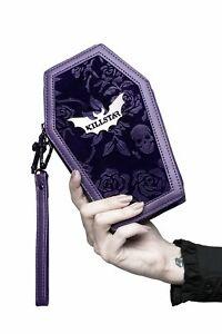 Killstar Vampires Kiss Coffin Roses Floral Skulls Velvet Goth Wallet KSRA002547