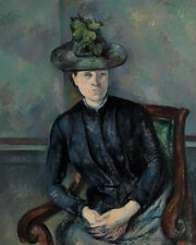 Madame Cézanne with Green Hat by Paul Cézanne 60cm x 48cm Art Paper Print