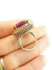 #D936 VICTORIAN ANTIQUE VINTAGE RINGS TURKISH JEWELRY STERLING 925 SILVER SIZE 9