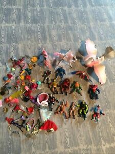 Huge lot of he-man, She-ra princess of power figurines and horse, Swan