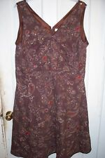 """Pretty, Brown Summer Floral Dress with Sequins """"Size 22W"""" by Cato Woman"""