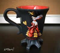 2012 Disney Designer Evil Villain QUEEN OF HEARTS Claw Pedestal Mug MINT NIB