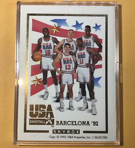 MICHAEL JORDAN 1992 Skybox Dream Team USA Basketball Team GOLD INSERT CARD *RARE