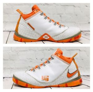Nike Men's LeBron Zoom Soldier 2 TB 'White Orange Blaze' 319407 181 Size 13
