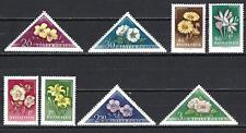 Hongrie 1958 Fleurs diverses série complète de 8 timbres neuf** 1er choix