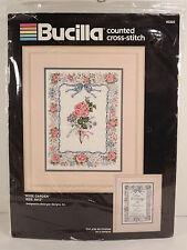 Bucilla Rose Garden Sampler Picture Cross Stitch Kit 40770 Balangier Sealed
