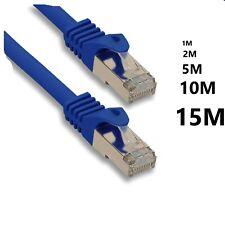 Câble Réseau Ethernet RJ45 CAT 5E Bleu Ordinateur Console Jeux-vidéo PS4 XBOX