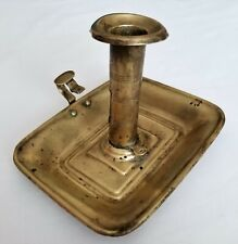 Antique Brass Candlestick Chamber  Candle Holder with Handle Prop    A6