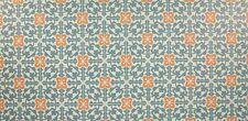 24x12 cm. (203,45EUR/M²) Bodenfliesen für Puppenhaus, weiß, Muster rot-blau