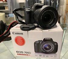 Canon Eos 700d con obiettivo canon 18-135 + cavalletto Manfrotto - 2 batterie