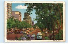 *1950s Mexico City Boulevard del Paseo de la Reforma Street View Postcard C12