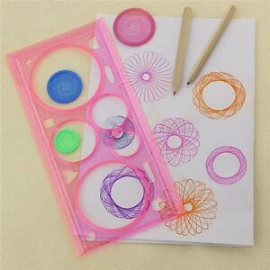 1x Spirograph Geometric Ruler Drafting Tool Stationery For Student Drawing BD&qi