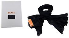 947ebf23499 Hugo Boss Schaltuch Nuot-XM schwarz Baumwolle orange Label OVP in  Geschenkebox