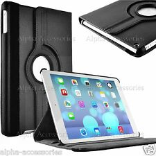 Funda de piel Giratorio para Apple iPad 4 3 2 , Mini 3 2 1 & 9.7 AIRE