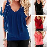 Sexy Summer Women Chiffon Tank Loose Vest Sleeveless T-Shirt Casual Tops Blouse