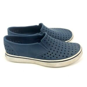 Native Unisex Casual Shoes Blue White Slip-On Perforated Waterproof M 6 W 8