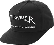 THRASHER MAGAZINE NEW RELIGION SNAPBACK CAP BLACK