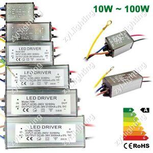 Transformateur 220V 12V 36V 10W ~ 100W Alimentation Pilote LED Driver Adaptateur