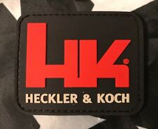 Heckler Koch HK LOGO Tactical Hk/Lp PVC BLACK Patch P7 P30 USP VP9 SPK5 ACU BDU