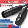 0.3-15m Microphone Mic Extension Lead 3 Pin Male to Female Plugs XLR Audio Cable