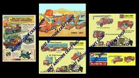 Corgi Toys Chipperfields Circus 1960's set of 5 Posters Signs Leaflets Adverts