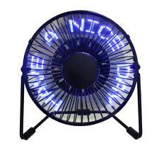 """6"""" LED alimentazione USB Desktop Ventilatore messaggio 360 ° gradi di rotazione"""