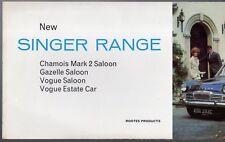 Singer 1965-66 marché du ROYAUME-UNI RABATTABLE sales brochure Chamois Mk2 Gazelle VI VOGUE IV