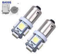 2 stk. H6W BAX9S 5 SMD CanBus 5050 LED Parklicht Standlicht Leselicht 12V DC