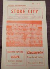 Stoke City v Rotherham United, 29 December 1962