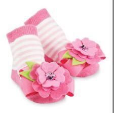 0-12 mons Socks Pink Stripe with Flower Socks Infant NWT