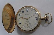 14k Yellow Gold 17 Jewel Elgin Hunter Case Pocket Watch #BX3-625V