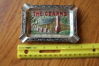 Ashtray Missouri The Ozarks Vintage Souvenir Old Matts Cabin Japan Metal Painted