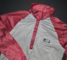 New Balance Vintage Windbreaker Jacket Med M Burgundy Anorak Running Pullover