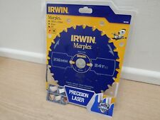 IRWIN 216MM X 30MM  24T TCT MITRE TABLE SAW BLADE PTFE NON STICK  1897453