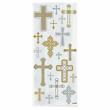 20 Party(Loot)Cellophane Bags CROSSES Christening First 1st Communion Gift Cello
