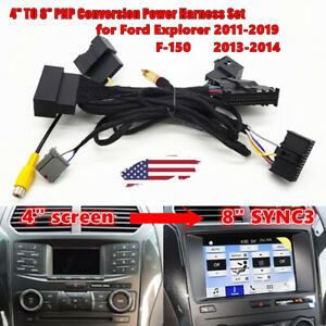 """4"""" To 8"""" PNP Conversion Power Harness for Ford F-150 Explorer SYNC 1 to SYNC 3"""