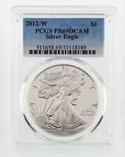 2012-W $1 Silver American Eagle Proof Graded by PCGS as PR69DCAM