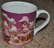 "Precious Moments Ceramic Mug Cup ""Moms Fill Life With"" 1995 Enesco"