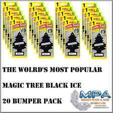 20 BUMPER PACK OF BLACK ICE SCENT MAGIC TREE CAR/HOME/OFFICE AIR FRESHNER