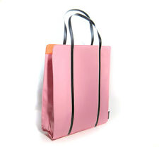 "CLINIQUE Large Tote/Shopping Bag Shopper 12.5"" x 15"" x 3.5"" Pink/Orange NEW"