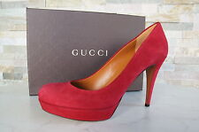 orig GUCCI Gr 39,5 Plateau High Heels Pumps Schuhe Shoes Scarpe  neu UVP395€