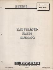 1967 BOLENS LAWN KEEPER MODEL 911-02 ILLUSTRATED PARTS MANUAL (104)